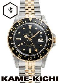 【中古】ロレックス 3年保証 GMTマスター Ref.16753 ブラック (ROLEX GMT Master)【楽ギフ_包装】