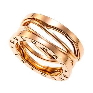 ブルガリ ビー・ゼロワン デザイン レジェンド 3バンド リング Ref.AN858029 #54 新品 (BVLGARI B.Zero1 Design Legend Ring)【楽ギフ_包装】