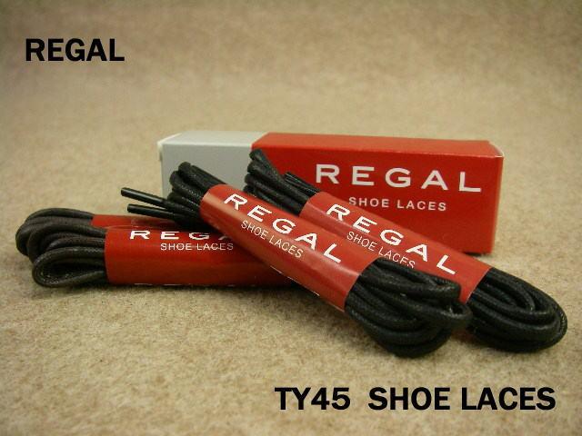 REGAL TY45 SHOE LACES ドレス 丸紐 66cm リーガル ビジネス シューレース 同色2足分入り ブラウン ブラック