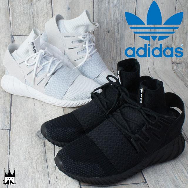 アディダス adidas チュブラー ドゥーム PK 送料無料 メンズ スニーカー TUBULAR DOOM PK プライムニット ハイカット カジュアル ストリート 白 黒 WHITE BLACK evid