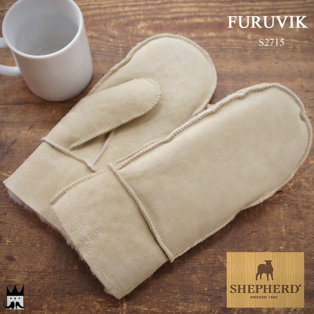 シェファード SHEPHERD レディース 手袋 ムートングローブ S2715 シープスキン 羊 ミトン グローブ スウェーデン 北欧 小物 アパレル 2WAY モコモコ フワフワ キャメル 婦人