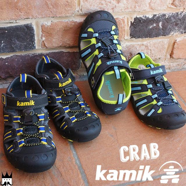 カミック Kamik 送料無料 男の子 子供靴 キッズ ジュニア サンダル 1600443 ベルクロ 男児 ボーイズ 夏 マジック ドローコード