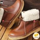 ダックフィート レディース ブーツ 1310 ARHUS ショートブーツ 2WAY ボア付き ウォールナッツ Nut duckfeet