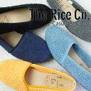 【送料無料】ザ ライス コー The Rice Co レディース スリッポン 83158 ブラック グレー ネイビー ライトブルー イエロー エスパドリー…