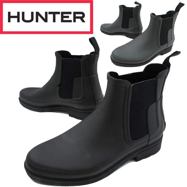 【送料無料】(一部地域除く)ハンター HUNTER メンズ レインブーツ ショートブーツ MFS9060 M ORG REFINED CHERSEA サイドゴアブーツ 防水 レインシューズ 梅雨 レジャー ガーデニング アウトドア 雨 雪 長靴 evid
