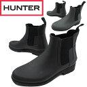 【送料無料】(一部地域除く)ハンター HUNTER メンズ レインブーツ ショートブーツ MFS9060 M ORG REFINED CHERSEA サイドゴアブーツ …
