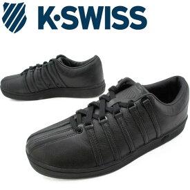 【送料無料】(一部地域除く)ケースイス メンズ スニーカー クラシック88 オールブラック ローカット カジュアルシューズ 定番 K-SWISS evid