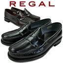 REGAL リーガル メンズ ローファー 革靴 紳士靴 ビジネスシューズ リクルート フレッシャーズ フォーマル ブラック 黒 ダークブラウン …