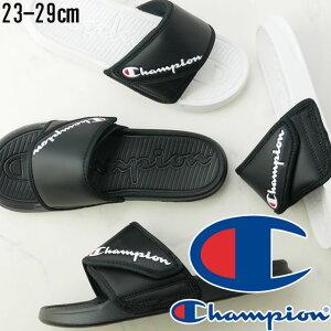 チャンピオン メンズ レディース シャワーサンダル スレイ バンド シャワサン CP LS057 コンフォートサンダル スポーツサンダル スライドサンダル スポサン ベルクロ 靴 ブラック 黒 ホワイト/