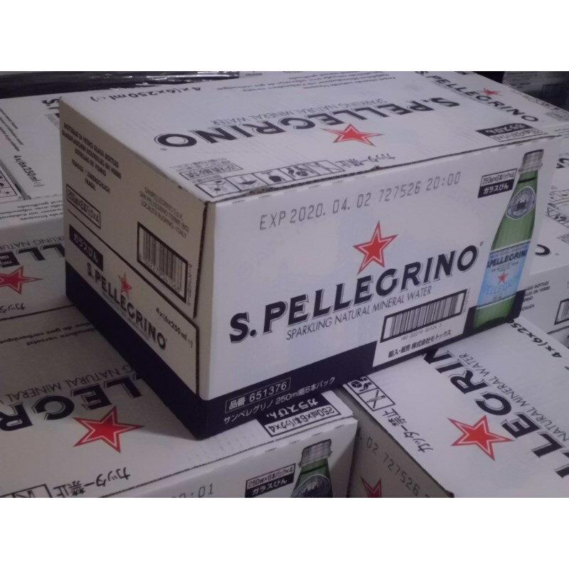 サンペレグリノ 250ml 24本 炭酸入り ナチュラルミネラルウォーター