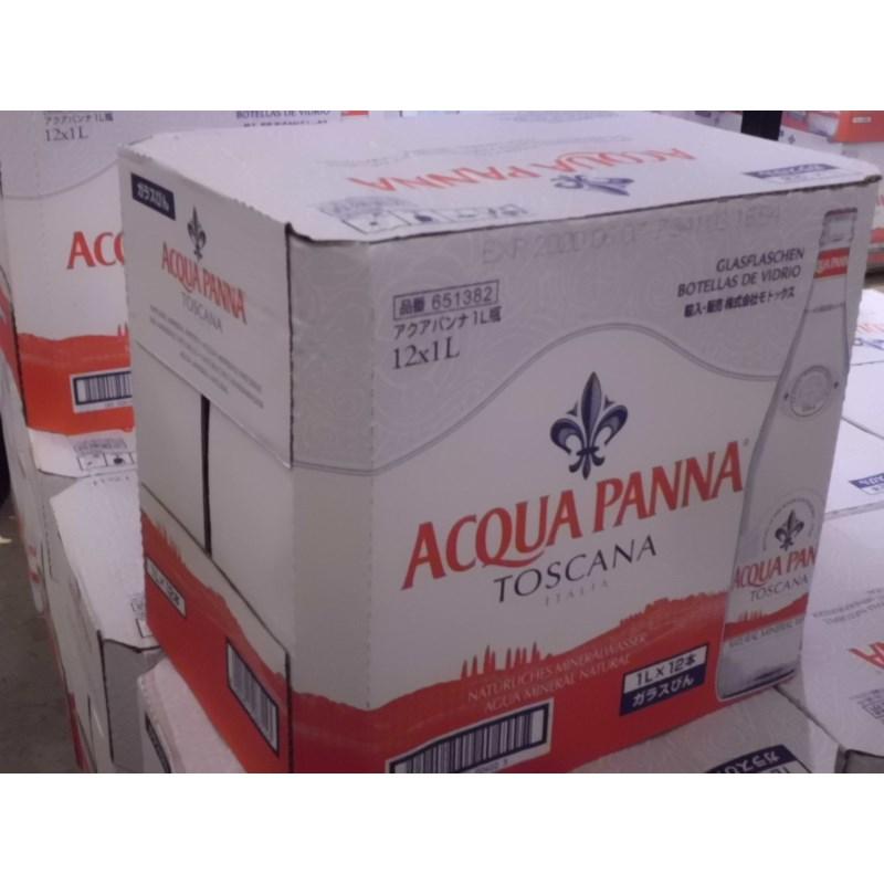 アクアパンナ 1000ml 12本 ナチュラルミネラルウォーター ワインリストに載る水 イタリア フィレンツェ スカルペリア 自然保護地区 メディチ家 鉱水 ガラス瓶 非発泡性 硬度約108mg/l 中硬水 悪酔いを防ぐ 食事に合う