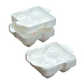 まるまる氷 大1P PP袋入 アイスボール メーカー 製氷器 バー 直径50mm 丸氷 ロックグラス ウィスキー 焼酎 おしゃれ スタッキング シャーベット ポリエチレン 日本製