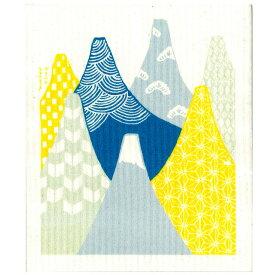 ごあいさつワイプ 富士山 おのし付き 青FUJI ブルー e.スポンジワイプ サステナブル セルロース ふきん 誕生70年 スウェーデン 木から生まれた 土に還る素材 天然素材