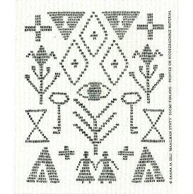 e.スポンジワイプ サーナ ヤ オッリ カレワラ ブラック サステナブル セルロース ふきん 誕生70年 スウェーデン 木から生まれた 土に還る素材 天然素材
