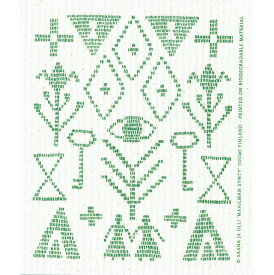 e.スポンジワイプ サーナ ヤ オッリ カレワラ グリーン サステナブル セルロース ふきん 誕生70年 スウェーデン 木から生まれた 土に還る素材 天然素材