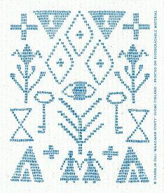 e.スポンジワイプ サーナ ヤ オッリ カレワラ ブルー サステナブル セルロース ふきん 誕生70年 スウェーデン 木から生まれた 土に還る素材 天然素材