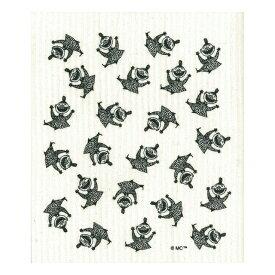 【新入荷】e.スポンジワイプ ムーミン ハッピーミイ ブラック/ホワイト トーベ・ヤンソン サステナブル セルロース ふきん 誕生70年 スウェーデン 木から生まれた 土に還る素材 天然素材