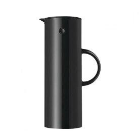 Stelton EM77 バキュームジャグ1L ブラック 世界中 ベストセラー 二重構造 ガラスボトル 保温効果 保冷効果 シンプル デザイン 北欧 キッチン ダイニング エリック・マグヌッセン デンマーク