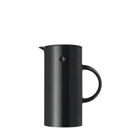 Stelton EM77 バキュームジャグ0.5L ブラック 世界中 ベストセラー 二重構造 ガラスボトル 保温効果 保冷効果 シンプル デザイン 北欧 キッチン ダイニング エリック・マグヌッセン デンマーク ステルトン