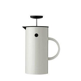Stelton EM フレンチプレス 1L ホワイト インスパイア プレス式コーヒーメーカー 淹れたてコーヒー コク 豊かな香り 2層構造 取り外し可能 洗いやすい 清潔 カラフル キッチン ダイニング デザイン 北欧 エリック・マグヌッセン デンマーク ステルトン