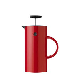 Stelton EM フレンチプレス 1L レッド インスパイア プレス式コーヒーメーカー 淹れたてコーヒー コク 豊かな香り 2層構造 取り外し可能 洗いやすい 清潔 カラフル キッチン ダイニング デザイン 北欧 エリック・マグヌッセン デンマーク ステルトン