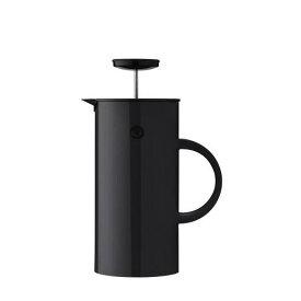 Stelton EM フレンチプレス 1L ブラック インスパイア プレス式コーヒーメーカー 淹れたてコーヒー コク 豊かな香り 2層構造 取り外し可能 洗いやすい 清潔 カラフル キッチン ダイニング デザイン 北欧 エリック・マグヌッセン デンマーク ステルトン