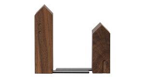 FUN ブックエンド 1 家型 ウォルナット LaTree ラトレ 飛騨家具 hidakagu 無垢材 オイル仕上げ すっきり収まる 木製 雑貨 小物 インテリア トータルコーディネート ベトナム セルボ コレオ 使いや