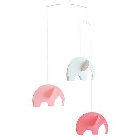 Flensted Mobiles フレンステッド・モビール Olephants オレファンツ ピンク 動く彫刻 アート デンマーク 北欧 雑貨 インテリア 知育玩具 リラックス ギフト 出産祝