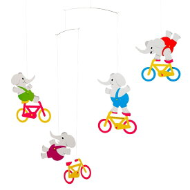 Flensted Mobiles フレンステッド・モビール Cycle Elephants サイクル エレファンツ 動く彫刻 アート デンマーク 北欧 雑貨 インテリア 知育玩具 リラックス ギフト 出産祝