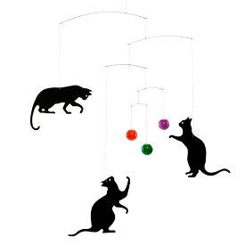 Flensted Mobiles フレンステッド・モビール Feline cats フィーラインキャッツ 動く彫刻 アート デンマーク 北欧 雑貨 インテリア 知育玩具 リラックス ギフト 出産祝
