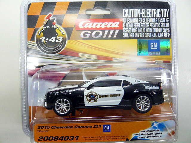 Carrera GO!!! Chevrolet Camaro Sheriff w/flashing lights 64031 カレラ スロットカー