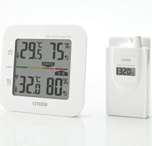 《クーポン配布中》 3特典【送料無料+お米+ポイント】 シチズン コードレス温湿度計 THD501 簡易熱中症指標表示付き CITIZEN 温度湿度計 熱中症計 2ヵ所の温湿度を測定 デジタル温度計 母の日