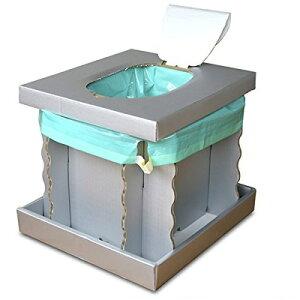 2特典【お米+ポイント】 インスタントトイレ FUFUKU グレー 簡易トイレ 仮設トイレ 緊急時やアウトドアの必需品 簡易便所 仮設便所 携帯便所