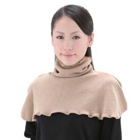 マスクにもなるシルクネックウォーマー首から肩まで シルク+遠赤素材のロングネックウォーマーシルクに包まれてポカポカ マスクにもなる電気毛布や電気敷き毛布も不要の暖かさ