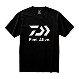 【DAIWA ダイワ】 DE-83009 ショートスリーブ FEEL Alive. Tシャツ M ブラック 即納可能