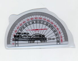 10cm分度器[イカリボシパルカラー定規](PP-10)