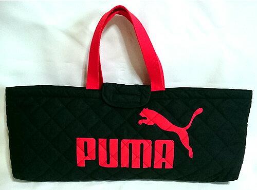 プーマ「PUMA」鍵盤ハーモニカケース(ピアニカ/メロディオン)用キルト地レッスンバッグ(横長通園用手提げ鞄)(PM163BK)