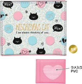 MISCHUEVOUS CAT(CRUX)クラックス窓あき二つ折り財布(コインケース付さいふ)小銭入れ&お札&カードが入るサイフ(CR79148)