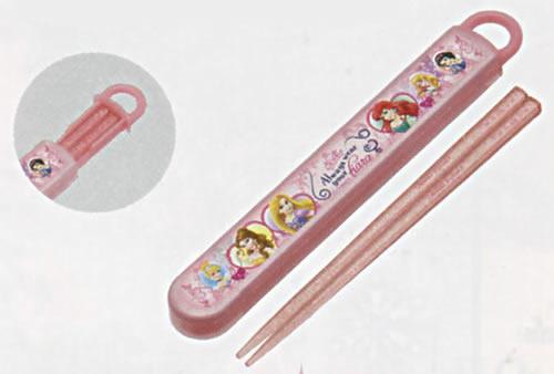 ディズニープリンセス[DisneyPrincess]食洗器対応スライド箸&箸箱セット(名入れスペース付お箸)(はしはし箱セット)(ABS2AM(361142))