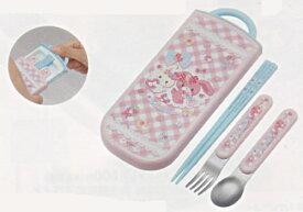 ぼんぼんりぼん[Bonbonribbon]食洗器対応スライドトリオセット(名入れスペース付お箸)(箸・スプーン・フォーク入)(TCS1AM(361654))