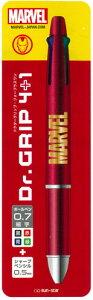 MARVEL[マーベル]ドクターグリッププレイボーダードクターグリップ4+1(なめらかアクロボール油性4色ボールペン0.7芯+シャープペンシル0.5芯)多機能DrGrip4+1/IM(アイアンマン)(S4644328)