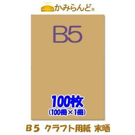 【DM便のみ送料無料】【B5】 クラフト用紙  未晒 100枚