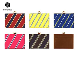 【カードケース】DELFONICSデルフォニックスRINO BRANO リノ・ブラーノクラヴァッタIDカードホルダーRB39RE/YE/BL/PI/BK
