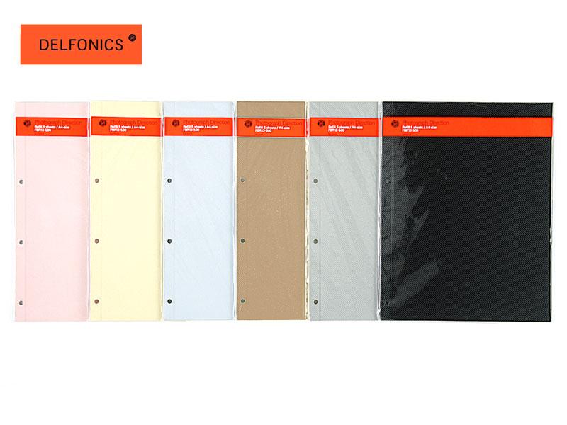 【アルバム】DELFONICS(デルフォニックス)PDフォトアルバム リングML:A4(PD03)用台紙粘着タイプ 500177(FBR13) CR/BK紙タイプ 500181(FBR14)