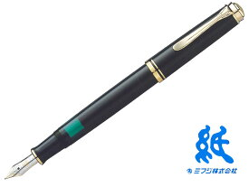 【万年筆】PelikanペリカンSouveranスーベレーン M400黒 ロジウム装飾14金ペン先F・M・B