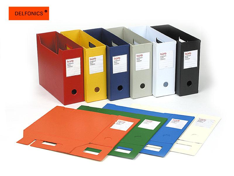 【ファイルボックス】DELFONICS デルフォニックスBUROビュロー ファイルボックス 横型 500085(FX12)