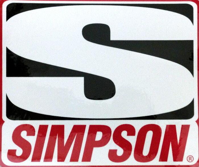 SIMPSON (シンプソン) USA 純正 ステッカー レーシング M サイズ 並行輸入品