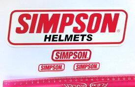 SIMPSON (シンプソン) USA 純正 ステッカー LOGOセット 並行輸入品
