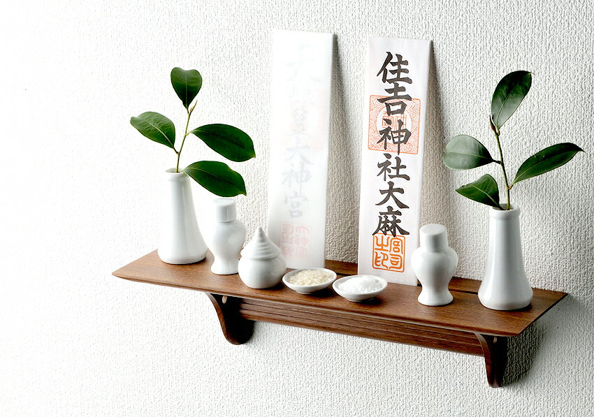 神具セット付!【神棚】洋風モダン神棚板 Kurumiウォールナット製 あさイチ No.2