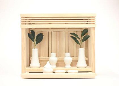 純日本製神棚箱宮神楽ミニ神具付き